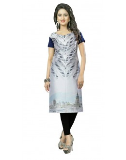 Party Wear Readymade Multi-Colour Crepe Kurti - 50440