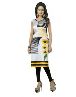 Ethnic Wear Readymade Multi-Colour Crepe Kurti - 50444