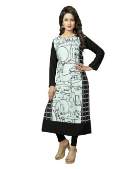 Party Wear Readymade Multi-Colour Crepe Kurti - 50446