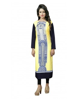 Casual Wear Readymade Multi-Colour Crepe Kurti - 50447