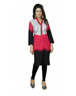 Traditional Wear Readymade Multi-Colour Crepe Kurti - 50448