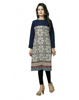 Festival Wear Readymade Multi-Colour Crepe Kurti - 50451