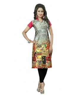 Ethnic Wear Readymade Multi-Colour Crepe Kurti - 50454