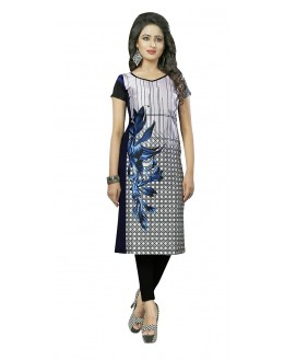 Ethnic Wear Readymade Multi-Colour Crepe Kurti - 50456