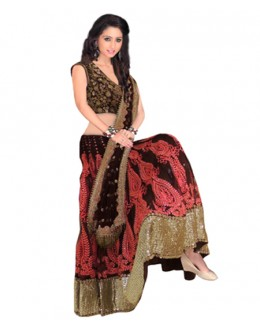 Bollywood Replica Brown Georgette  Lehnega Choli - 60058