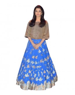 Bollywood Replica Blue Banglori Silk  Lehnega Choli - 60071