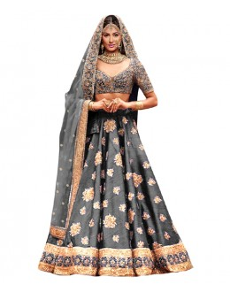 Bollywood Replica Grey Bhagalpuri Lehnega Choli - 60076