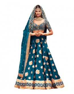 Bollywood Replica Rama Blue Lehnega Choli - 60077