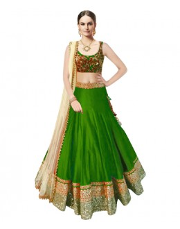 Bollywood Replica Green Banglori Silk  Lehnega Choli - 60085
