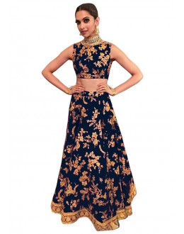 Bollywood Replica -  Ethnic Wear Blue Lehenga Choli - 60097