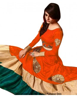 Bollywood Replica -  Festival Wear Orange Lehenga Choli - 60104