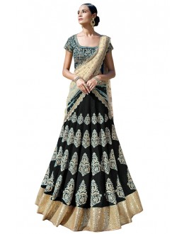 Bollywood Replica -  Bridal Wear Black Lehenga Choli - 60121