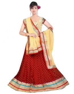 Bollywood Replica -  Navratri Special Red Lehenga Choli - 60141