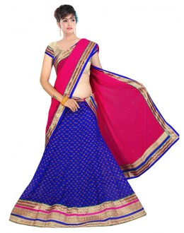 Bollywood Replica -  Navratri Special Blue Lehenga Choli - 60144