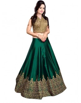 Bollywood Replica -  Fancy Green Lehenga Choli - 60147B