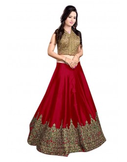 Bollywood Replica - Fancy Red Lehenga Choli - 60147G