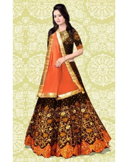 Bollywood Replica - Bridal Wear Black Lehenga Choli - 60150