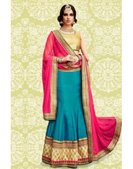 Bollywood Replica - Festival Wear Blue & Red Lehenga Choli - 60152