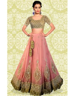 Bollywood Replica - Wedding Wear Peach Lehenga Choli - 60153