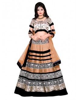Traditional Gold Banglori Silk Lehenga Choli - 60173H