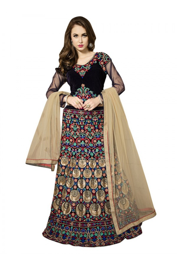 Bollywood Replica - Bridal Wear Multicolour Lehenga Choli - 60174