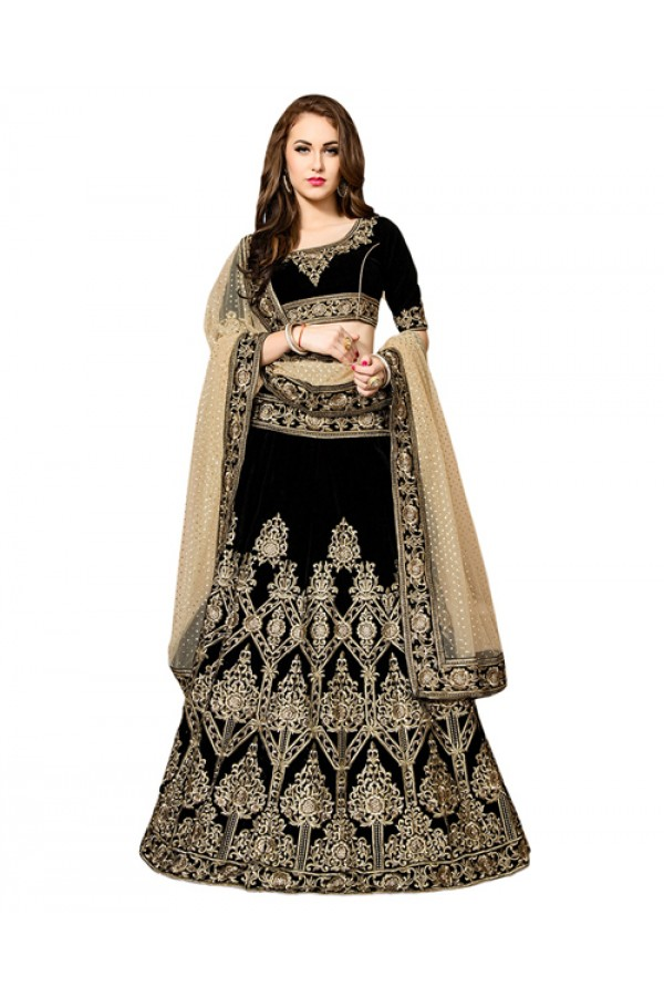 Bollywood Replica - Wedding Wear Black Lehenga Choli - 60176