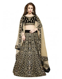 Bollywood Replica - Bridal Wear Black Lehenga Choli - 60177