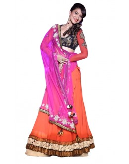Bollywood Replica - Festival Wear Orange Lehenga Choli - 60183