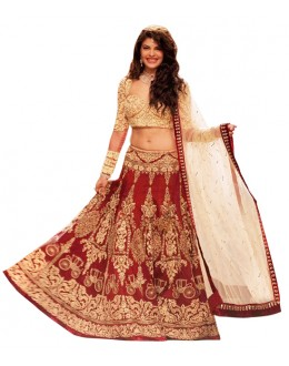 Bollywood Replica - Wedding Wear Red Lehenga Choli - 60186