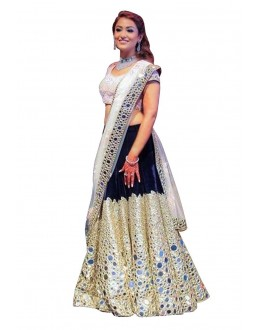 Bollywood Replica - Designer Navy Blue Lehenga Choli - 60189