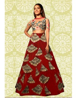 Bollywood Replica - Ethnic Wear Red Lehenga Choli - 60196A