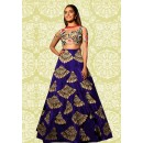 Bollywood Replica - Party Wear Royal Blue Lehenga Choli - 60196C