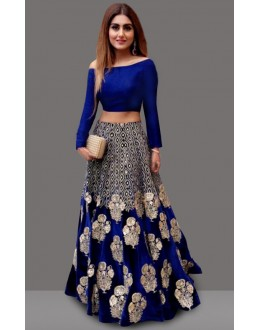 Bollywood Replica - Traditional Blue Lehenga Choli - 60237