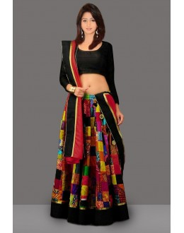 Bollywood Replica - Multicolour Crepe Silk Lehenga Choli - 60240