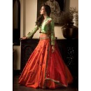 Bollywood Replica - Festival Wear Orange Lehenga Choli - 60242