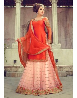 Bollywood Replica -Ethnic Wear Light Pink Lehenga Suit - 60243