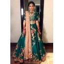 Bollywood Replica -Festival Wear Green Lehenga Choli - 60245