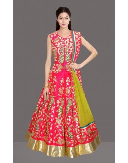 Bollywood Replica -  Festival Wear Red Lehenga Choli  - 60256
