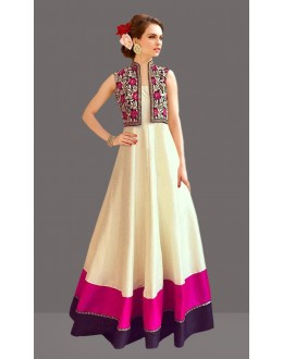 Bollywood Replica - Party Wear Off White Gown - 60259