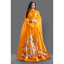 Traditional Beige & Yellow Bhagalpuri Lehenga Suit  - 60271C