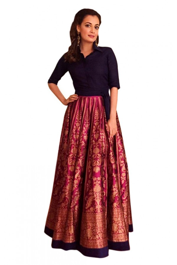 Bollywood Inspired  - Traditional Pink & Black Lehenga Choli - 60328