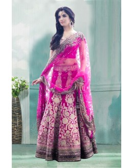 Bollywood Inspired  - Bridal Wear Pink Lehenga Choli - 60339