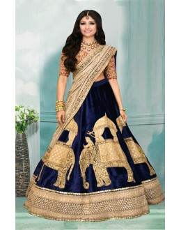 Bollywood Inspired  - Festival Wear Blue Lehenga Choli - 60341