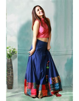 Bollywood Inspired - Banglori Silk Crop Top Lehenga  - 60282E