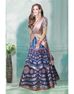 Bollywood Inspired - Traditional Multi-Colour Lehenga Choli  - 60349