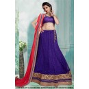 Traditional Blue Net Lehenga Choli - 60419