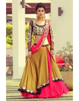 Festival Wear Multi-Colour Poly Silk Lehenga Choli - 60537