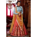 Ethnic Wear Peach Banglori Lehenga Choli - 60548
