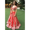 Festival Wear Red Taffeta Lehenga Choli - 60549