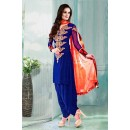 Casual Wear Georgette Blue Salwar Suit Dress Material  - 70264